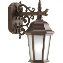 Progress P5682-20EB - One Light Antique Bronze Etched Glass Wall Lantern