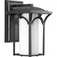 Progress P6033-31WB - One Light Black  Etched Opal Glass Wall Lantern