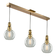 Artcraft JA14012GD - Etobicoke 3 Light Gold Island Light