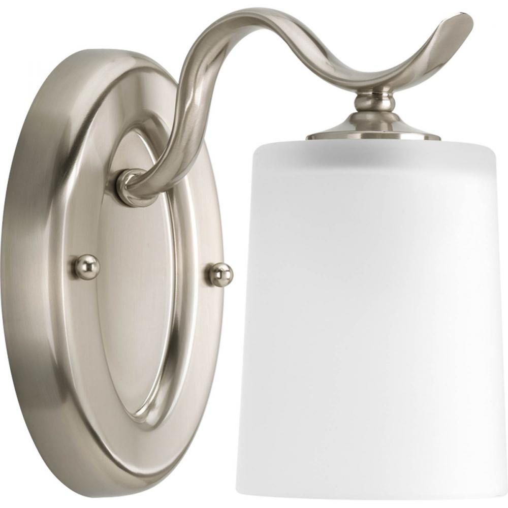 1 Lt Brushed Nickel Bath Light