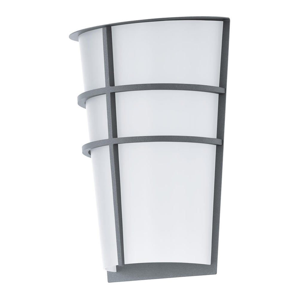 2x25w led outdoor wall light w silver finish white plastic glass 2x25w led outdoor wall light w silver finish white plastic glass aloadofball Choice Image