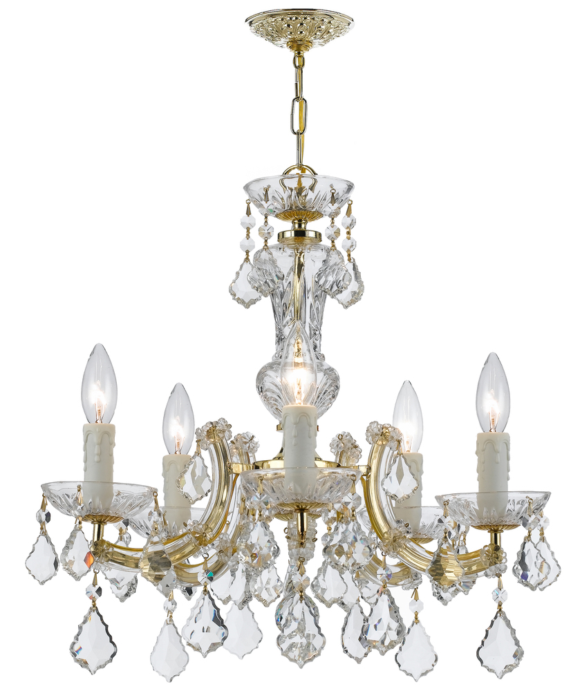 Crystorama maria theresa 5 light gold mini chandelier 4376 gd cl crystorama maria theresa 5 light gold mini chandelier mozeypictures Image collections