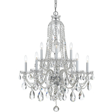 Crystorama 1110-CH-CL-MWP - Traditional Crystal 10 Light Clear Crystal Chrome Chandelier
