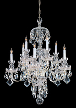 Crystorama 1140-PB-CL-MWP - Traditional Crystal 10 Light Clear Crystal Brass Chandelier