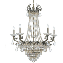 Crystorama 1486-HB-CL-MWP - Majestic 13 Light Clear Crystal Brass Chandelier