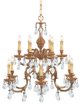 Crystorama 2912-OB-CL-MWP - Novella 12 Light Clear Crystal Chandelier