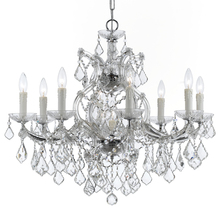 Crystorama 4408-CH-CL-SAQ - Maria Theresa 9 Light Spectra Crystal Chrome Chandelier
