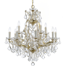 Crystorama 4412-GD-CL-MWP - Maria Theresa 13 Light Clear Crystal Gold Chandelier