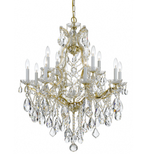 Crystorama 4413-GD-CL-MWP - Maria Theresa 13 Light Clear Crystal Gold Chandelier