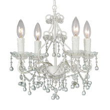 Crystorama 4514-WW-CLEAR - Paris Market 4 Light Clear Crystal White Mini Chandelier