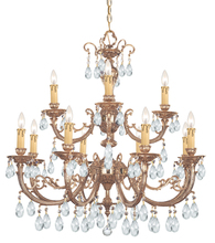 Crystorama 499-OB-CL-MWP - Etta 12 Light Clear Hand Cut Crystal Chandelier