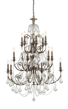 Crystorama 5117-EB-CL-MWP - Regis 18 Light Clear Crystal Bronze Chandelier