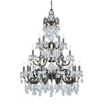 Crystorama 5190-EB-CL-I - 20 Light Clear Italian Crystal Bronze Chandelier