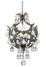 Crystorama 5193-EB-CL-MWP - Legacy 3 Light Clear Crystal Bronze Mini Chandelier