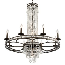 Crystorama 5268-EB-CL-MWP - Mercer 12 Light Crystal Bronze Chandelier