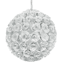Crystorama 537-WW - Cypress 1 Light White Sphere Mini Chandelier