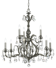 Crystorama 5569-PW-CL-MWP - Dawson 9 Light Clear Crystal Pewter Chandelier
