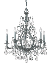 Crystorama 5575-PW-CL-MWP - Dawson 5 Light Clear Crystal Pewter Chandelier