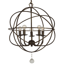 Crystorama 9224-EB - Solaris 5 Light English Bronze Mini Chandelier