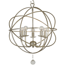 Crystorama 9224-OS - Solaris 5 Light Olde Silver Mini Chandelier