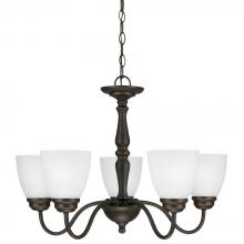 Generation Lighting - Seagull 3112405-191 - Northbrook Five Light Chandelier in Roman Bronze with Satin Etched Glass