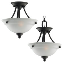 Generation Lighting - Seagull 77625-782 - Two Light Semi-Flush Convertible Pendant