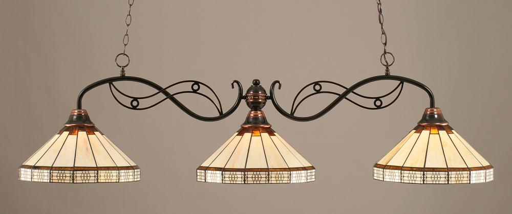 Black Copper Pool Table Light