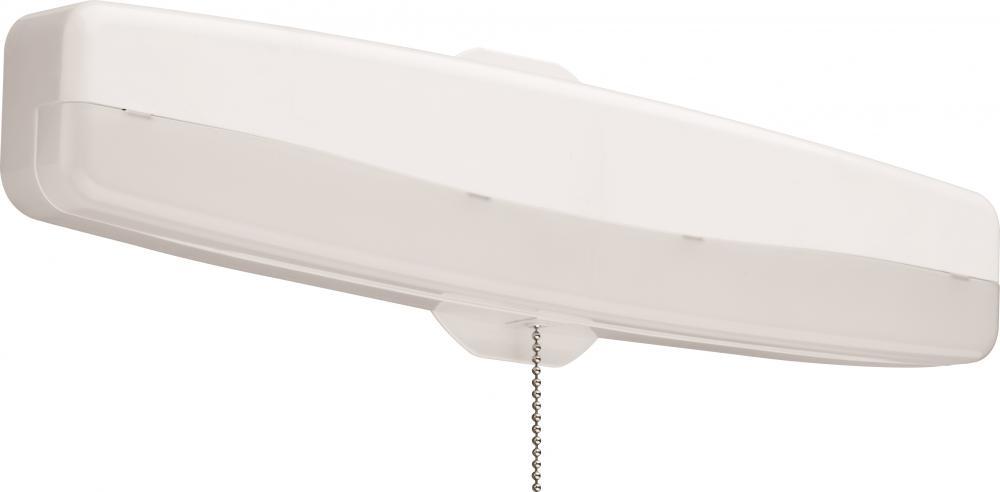 Delightful White 4000K LED Flush Mount Closet Light With Pull Chain
