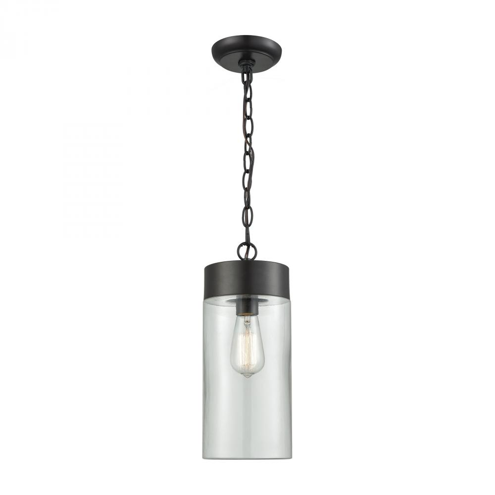 Oil Rubbed Bronze Wall Sconce Option Style Ambler 1 Light Outdoor Pendant in Oil Rubbed Bronze with Clear Glass