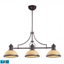 ELK Lighting 66235-3-LED - Chadwick 3-Light Island Light in Oiled Bronze with Off-white Glass - Includes LED Bulbs